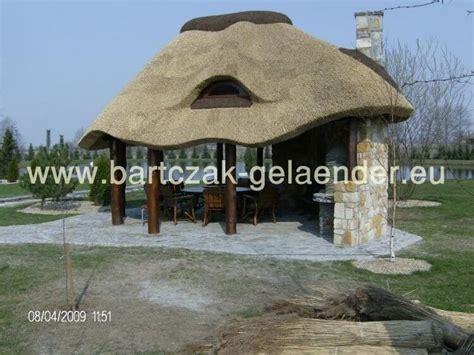 pavillon polen pavillon mit festem dach holz garten reetdach wetterfest