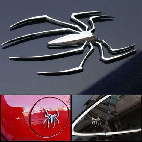 3d Sticker Car by 2017 3d Car Stickers Universal Metal Spider Shape