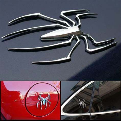 car stickers universal metal spider shape emblem