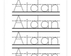Name Tracing Templates by Preschool Worksheets Etsy