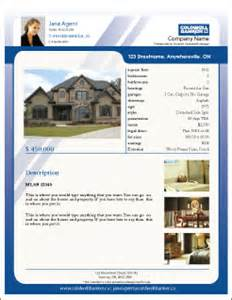 House Listing Template Printforlesscanada Com Free Coldwell Banker Listing