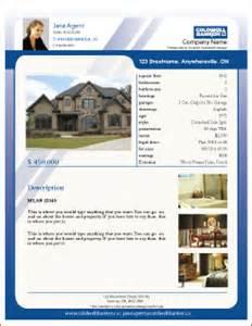 Real Estate Listing Form Template Printforlesscanada Com Free Coldwell Banker Listing