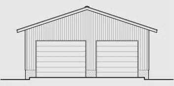 Plans For A 25 By 25 Foot Two Story Garage by Garage Floor Plans One Two Three Car Garages Studio