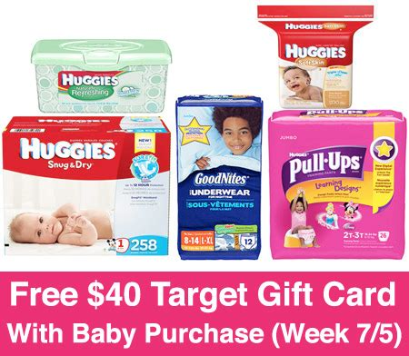 Target Gift Card With Baby Purchase - free 40 gift card with baby purchase at target week 7 5