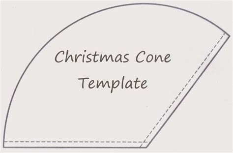 Sewforsoul Christmas Gift Cone Tutorial Tree Cone Template