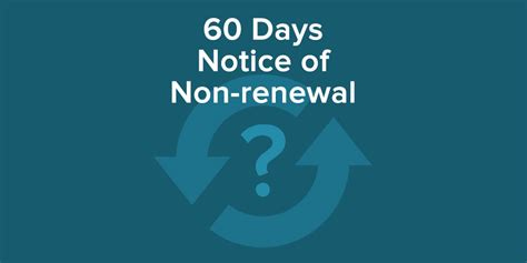 Non Lease Renewal Letter To Landlord require your tenants to give 60 days notice of non renewal