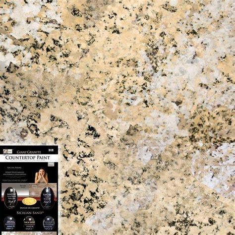 Giani Granite Countertop Paint Kit by 1 25 Qt Sicilian Sand Countertop Paint Kit