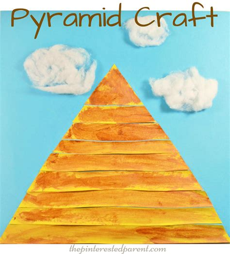 Paper Pyramid Craft - pyramid craft the pinterested parent