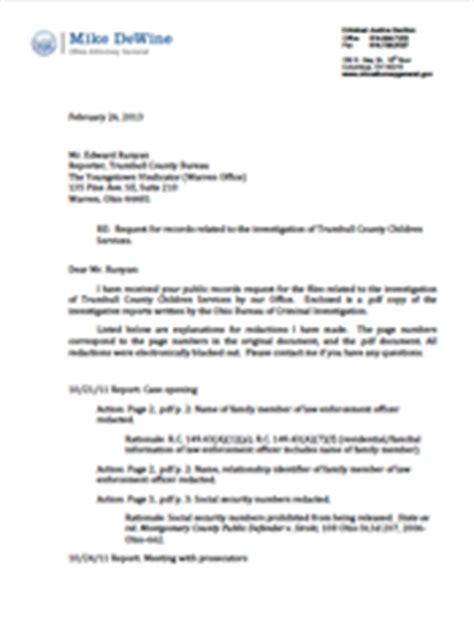 Response Letter To Site Visit Youngstown News Trumbull County Children Services Response Letter
