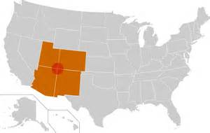 Four Corners States Map by Four Corners Wikipedia