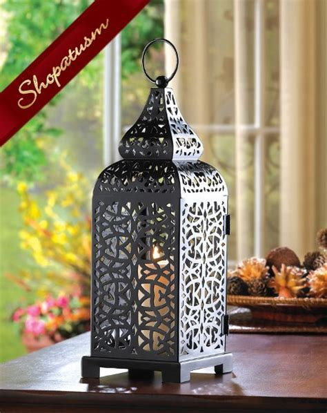 Candle Holder Lantern Centerpieces 12 Wholesale Lanterns Moroccan Centerpiece Black Tower