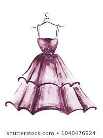 dress sketch images stock  vectors shutterstock
