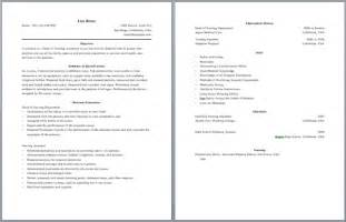2 page resume format resume format