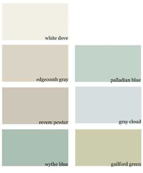 paint colors for our new house benjamin white dove edgecomb gray revere pewter