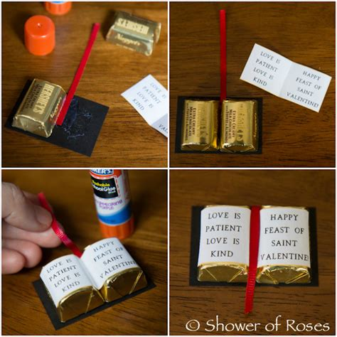 free bible crafts for to make shower of roses bible valentines tutorial free
