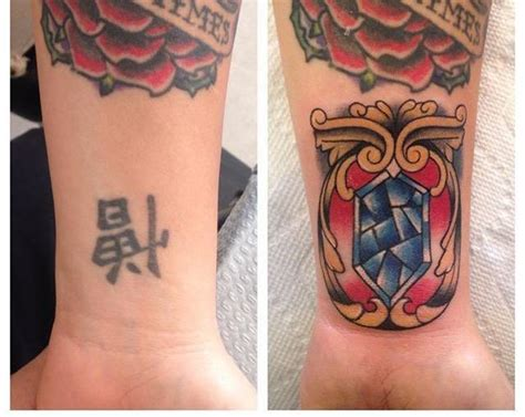 tattoo cover up kanji kanji coverup with traditional gem by michael lee suarez