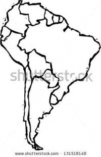 black white vector illustration map south stock vector