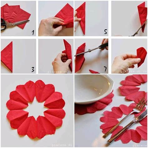 Poppy Wall Stickers diy heart flower napkin decorations