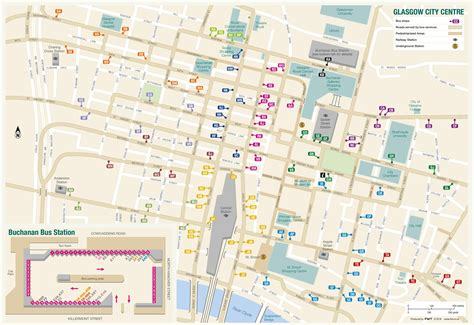 printable map glasgow city centre glasgow city center map
