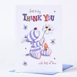 thank you card cute donkey 89p