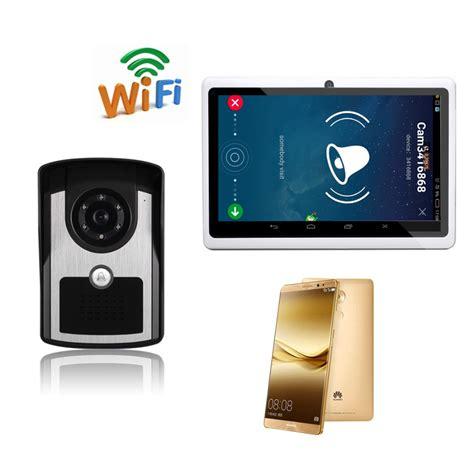 Wifi Cellular wifi wireless door phone intercom doorbell peehole remote unlock pir ir