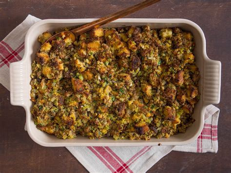 cornbread dressing  sausage  sage recipe  eats