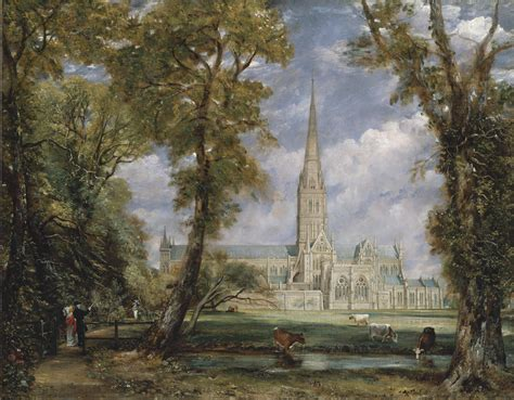 By John Constable Salisbury Cathedral | john constable then and now locations