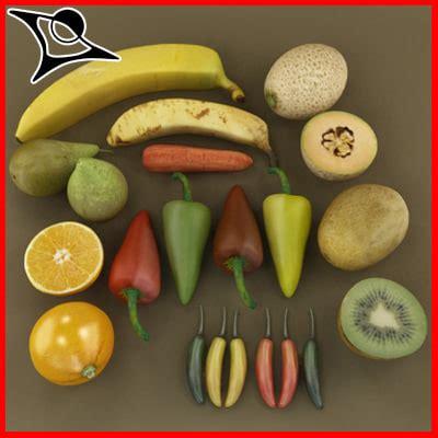 vegetables 3d max vegetables fruits 3d max