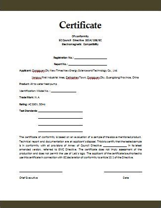 quality certification letter certificate of compliance template http www valery