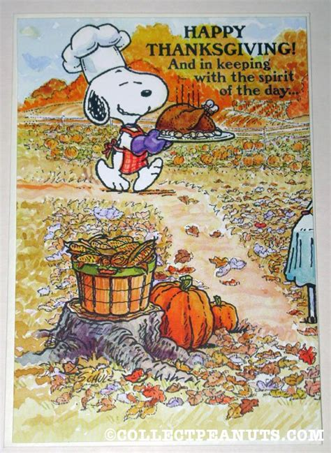 peanuts thanksgiving cards collectpeanutscom