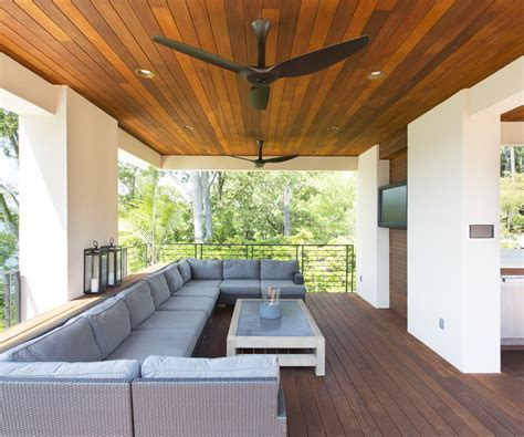 Farmhouse ceiling fan patio contemporary with rattan