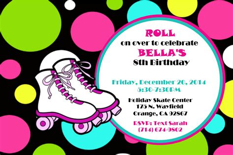 roller skating invitation template roller skating invitations theruntime