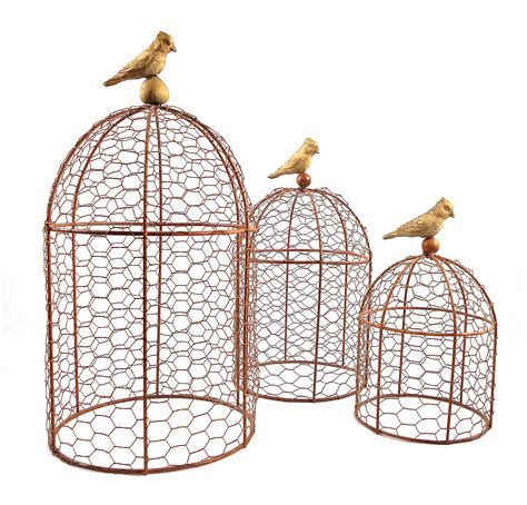 decorative wire garden cloches set of three chairish
