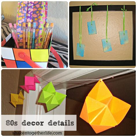 80s themed decorations 80s big reveal tons of 80s ideas