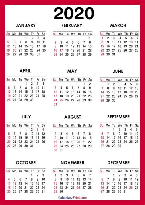 calendar printable   usa holidays  paper size red sunday start