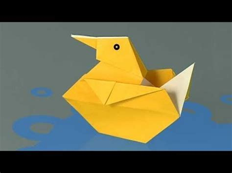 How To Make Duck From Paper - how to make a paper duck origami