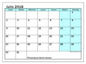 Calendario 2018 Julio Calendario Para Imprimir Julio 2018 Laurentia Espa 241 A