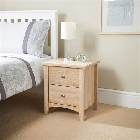 bed side finley 2 drawer bedside table table furniture