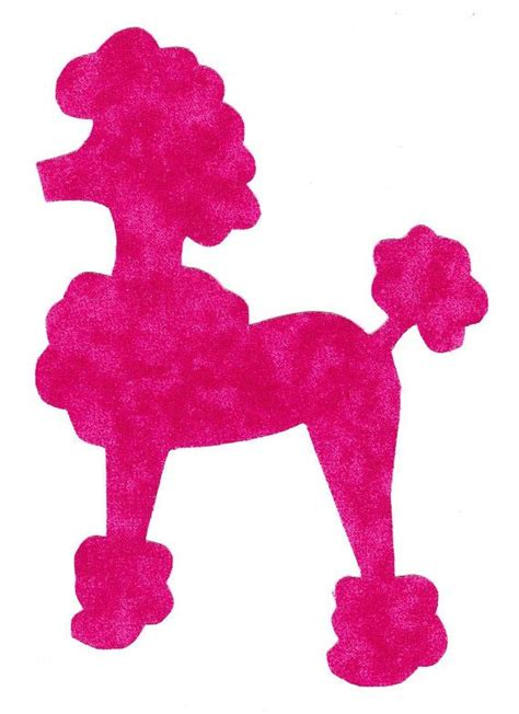poodle applique template 17 best images about fifties on
