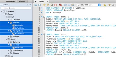 Create Table With Foreign Key by Mysql Primary