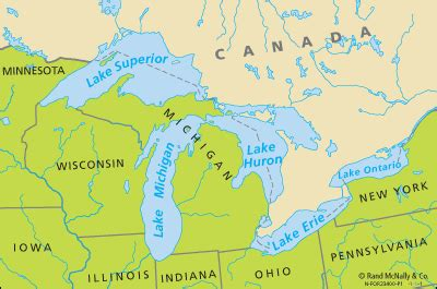 the great lakes map great lakes map images images