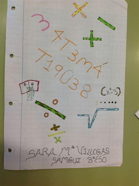 Fourtwenty Bl concurso de portadas de cuadernos de matemticas 3 de eso