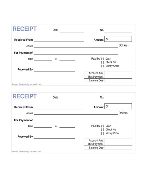 docs receipt template blank sle blank receipt forms 9 free documents in pdf word