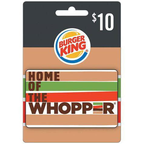 Burger King Gift Card Free - burger king 10 gift card gift cards unnav walmart com
