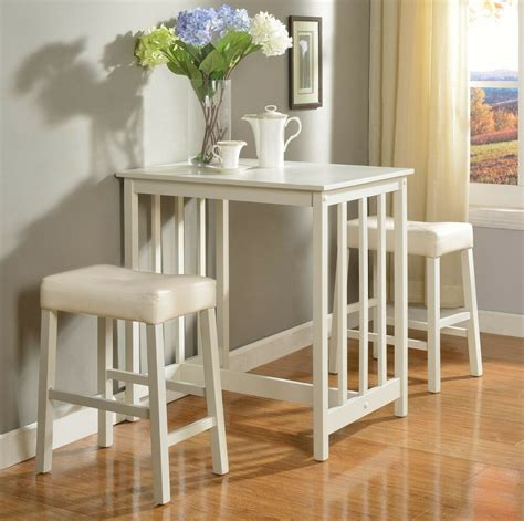 white counter height dining table set   piece bar pub kitchen vinyl stools ebay