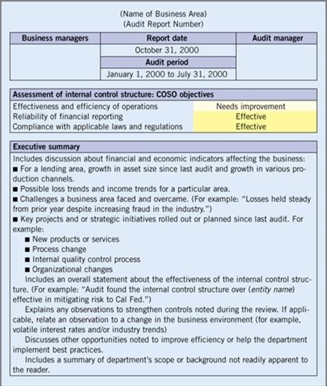 audit summary report template 37 brilliant audit report format exles thogati
