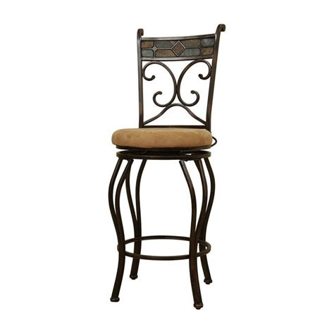 Black Swivel Bar Stool 29 Quot Metal Swivel Bar Stool In Black And Gold 80516