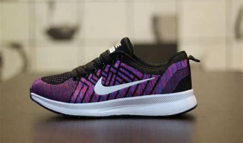 Sepatu Sneakers Pria Nike Zoom Flyknite Made In Import jual sepatu nike zoom flyknite ungu hitam di lapak