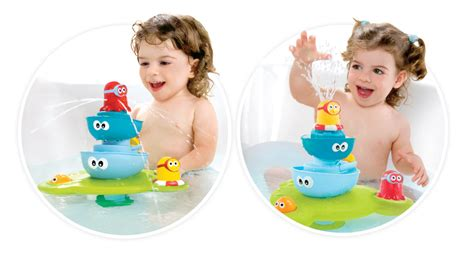 bathtub fountain toy stack n spray tub fountain baby bath toys yookidoo