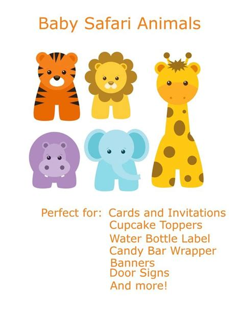 free printable zoo animal clipart free baby animal clip art paper parties baby safari